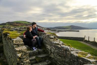 Emily and David Couples Shoot at Aberystwyth Castle